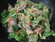 カ二カマとレタスの卵炒め 調理⑤