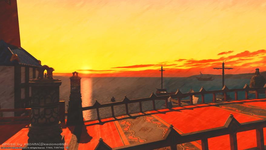 【FF14】夕焼け、夜景、異人街【クガネ】