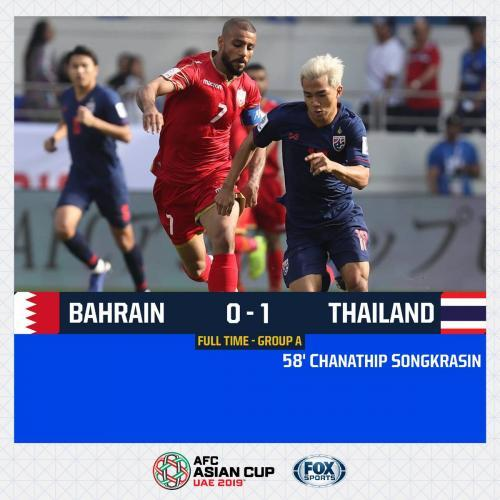 Bahrain 0-1 Thailand Chanathip Songkrasin goal AFC Asian Cup