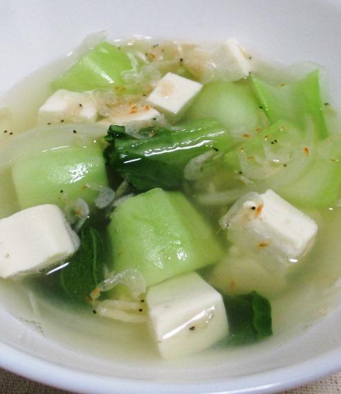 豆腐と青梗菜 大