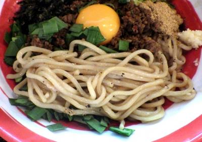 麺家 六二助 台湾まぜそば・大(麺のアップ)