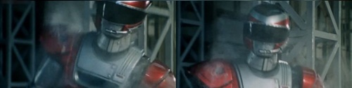特警ヒーロー、ウインスペクター隊長ファイヤーが武器を奪われてやられるピンチ