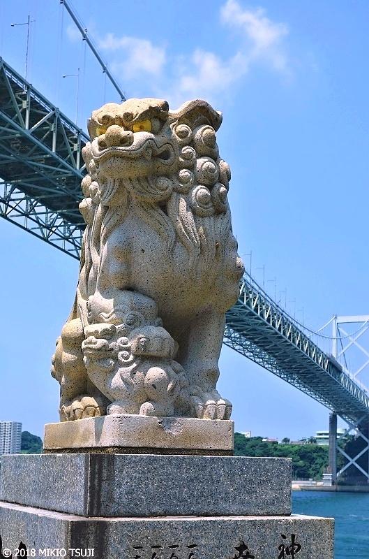 絶景探しの旅 - 0616 関門海峡 和布刈神社(めかり神社)の狛犬 (福岡県 北九州市)