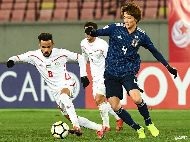 Japan 🇯🇵 1 - 0 🇵🇸 Palestine AFCU23 campaign in Group B itakura goal