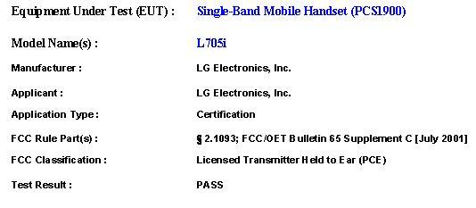 FOMA L705i LG電子 MoCell