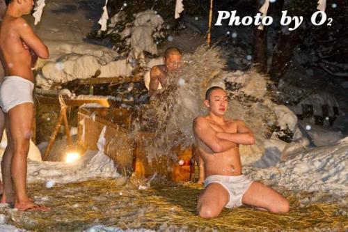 佐女川神社 寒中みそぎ 水ごり 稲荷