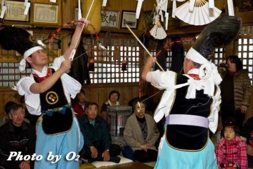 白符大神宮新年祭 松前神楽 神遊舞