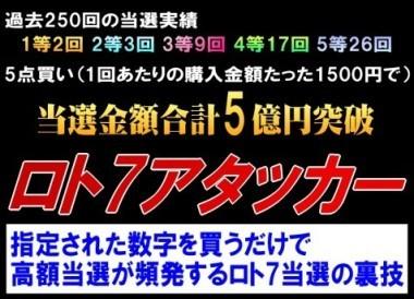 ロト7アタッカー(+ロト7当選ソフト)