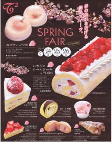 $T2菓子工房のブログ(T2菓子工房は同業者から問い合わせが殺到するような菓子業界のリーディングカンパニーを目指します)-スプリングフェア