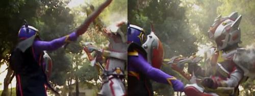 魔弾銃士リュウガンオーがやられてスーツを破壊される