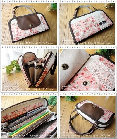 warm*heart パッチのお財布バッグと,花柄&合皮のお財布バッグ♪