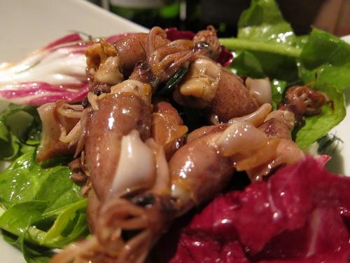 ホタルイカの燻製サラダ