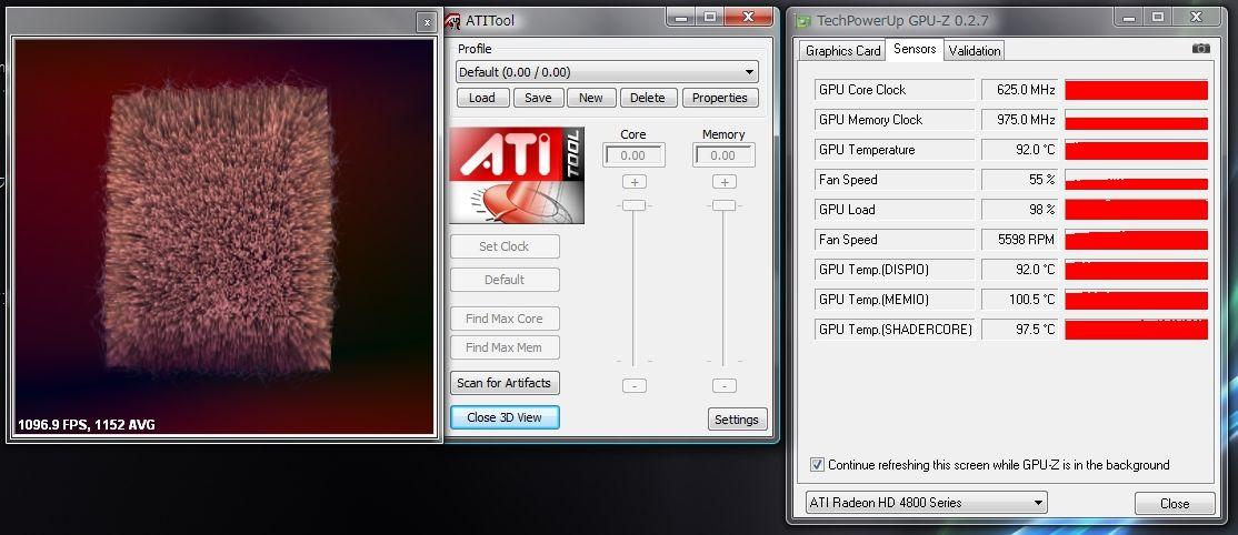 りっくすブログ ATI ToolでのGPU溫度測定