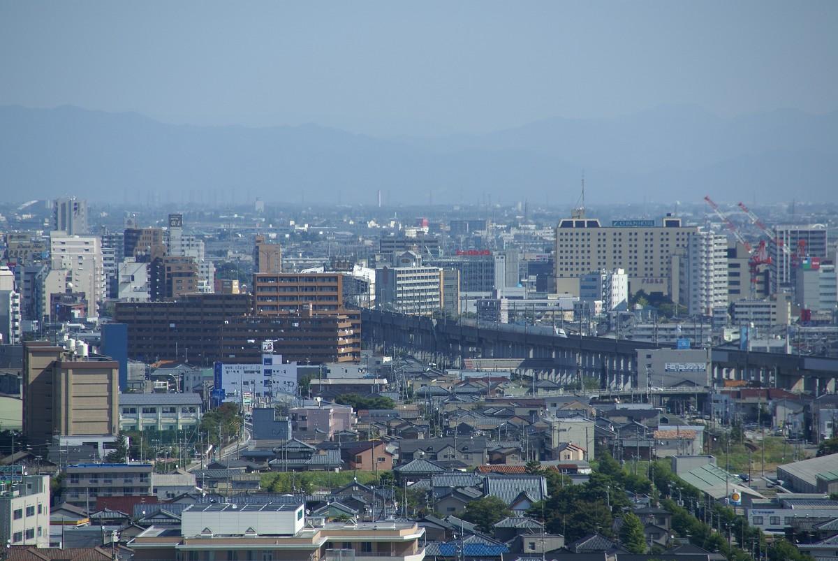 新潟定點観測 2008年10月中旬,新潟県庁展望臺より