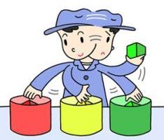 区分 识别 工作工序 按产品管理 按零部件管理