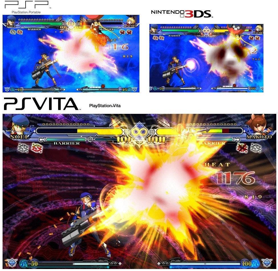 たんぶろ 2chメモ 『PSV/PSP/3DSのブレイブルー比較畫像が登場』