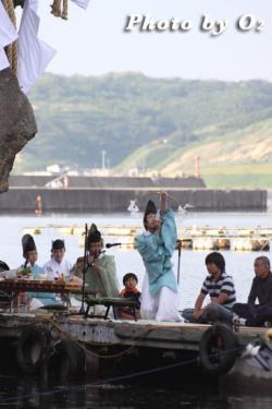 かもめ島まつり 神楽舞 神遊舞