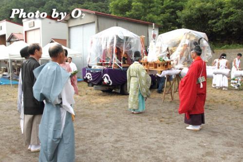 姥神大神宮渡御祭 下町巡幸 笹山稲荷神社