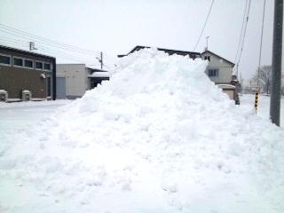 留辺蘂の雪