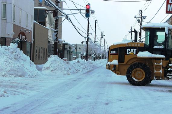 除雪作業 北見市留辺蘂町