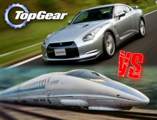 GT-R VS 新幹線 (日本ロケ) : 英國BBCのトップギアTOP GEAR ...