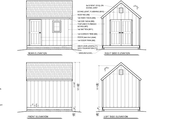 Garden Shed Plans 10 X 12 How to Build DIY by