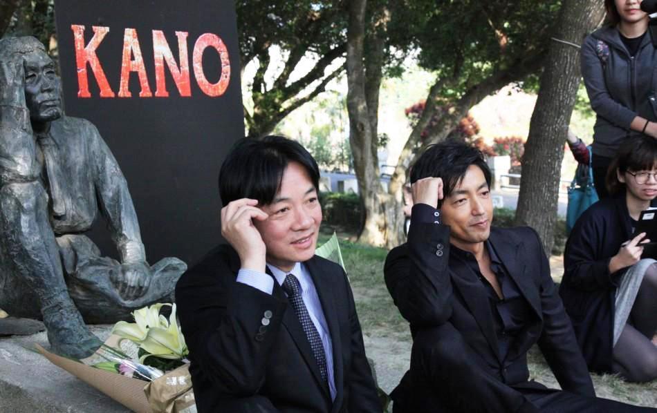 開啓儀式:大沢たかおが「日本人ダム技師」役で出演している臺灣映畫「KANO」のPRイベントに登場!!