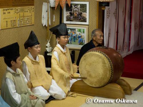 上ノ国町 石崎八幡神社 楽人
