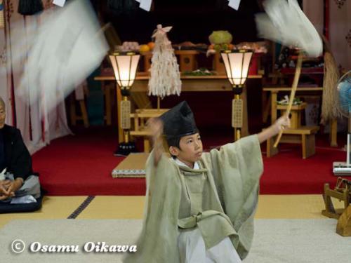 上ノ国町 石崎八幡神社 神楽舞 番楽