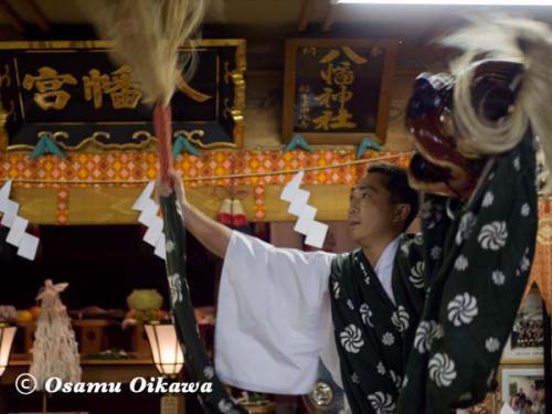 上ノ国町 石崎八幡神社 神楽舞 獅子舞