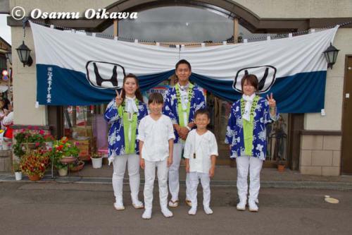 姥神大神宮渡御祭 2012 下町巡幸 中歌町ホンダ記念写真