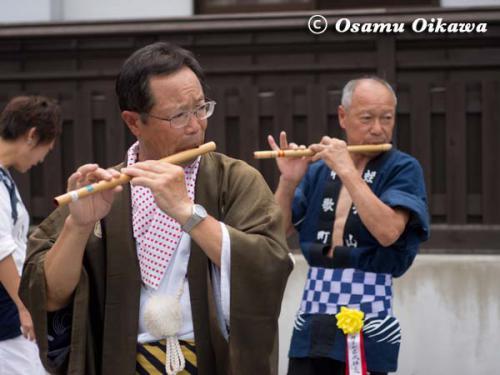 姥神大神宮渡御祭 2012 下町巡幸 蛭子山の笛吹き部長