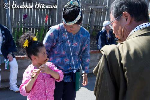 姥神大神宮渡御祭 2012 上町巡幸 笛吹きの子供