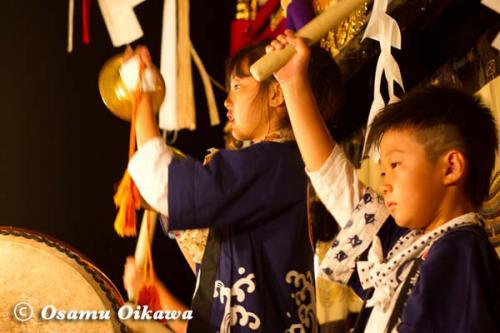 姥神大神宮渡御祭 2012 上町巡幸 夜の子供たち