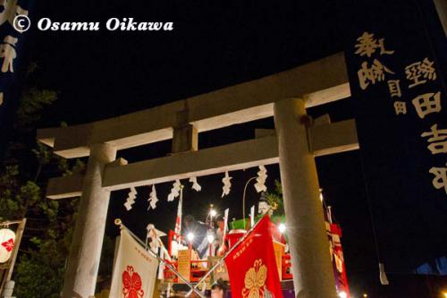 姥神大神宮渡御祭 2012 上町巡幸 最後のお詣り 蛭子山