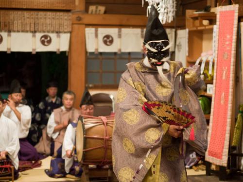 湯倉神社 翁舞