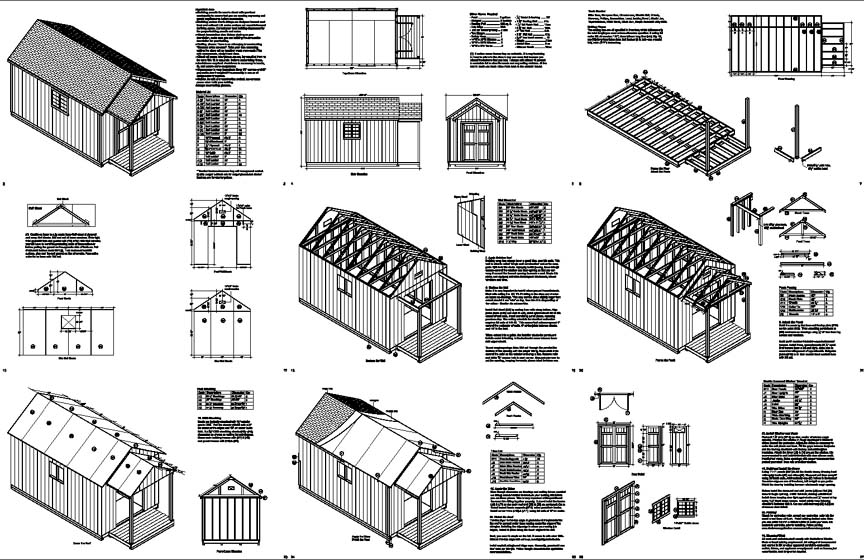 Build Shed Free Shed Plans 12x20 How to Build DIY