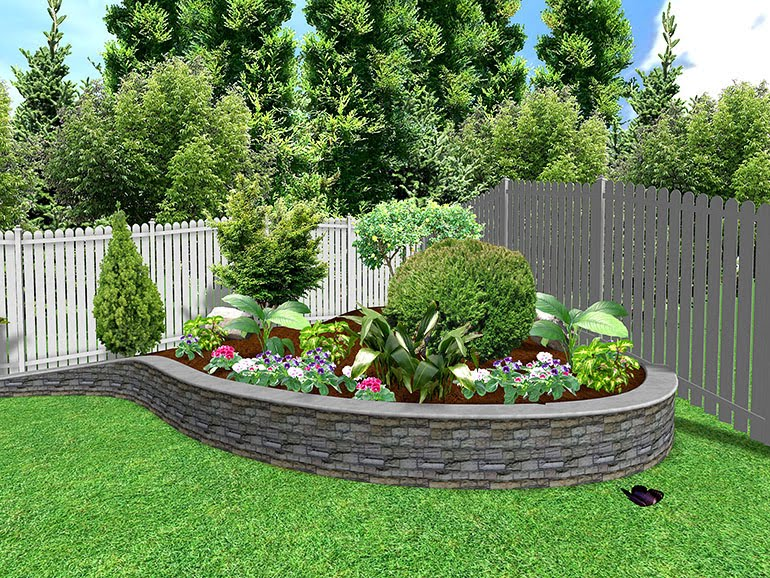 Landscape Ideas Backyard Corner 11013007 Ongek Net Inspiration