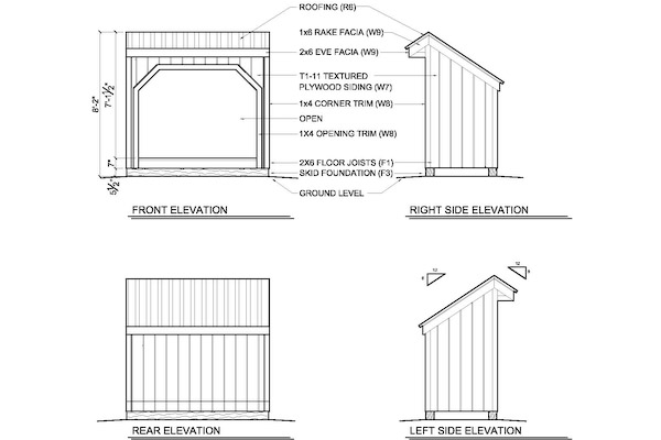 4 X 8 Wood Shed Plans How to Build DIY by