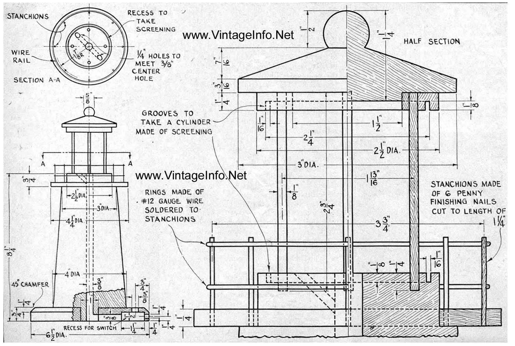 Free Lighthouse Woodworking Plans