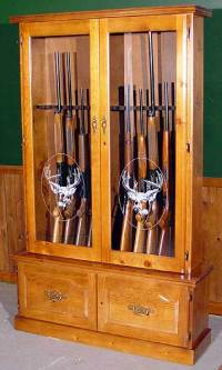 Wood Homemade Gun Cabinet Plans | How To build a Amazing ...