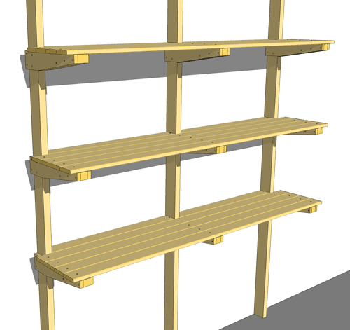 plans for wood shelves in garage
