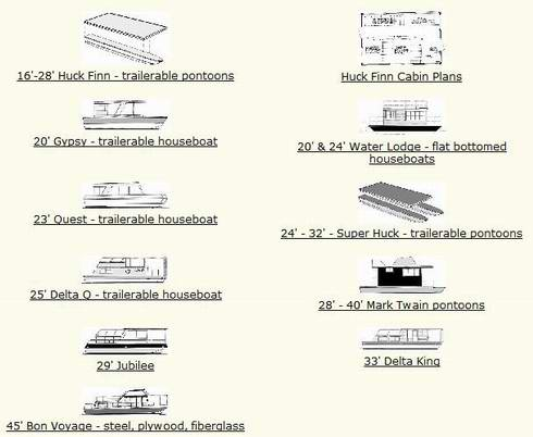Houseboat Construction Plans