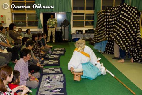 白符大神宮 宵宮祭 2012 松前神楽 十二の手獅子舞・佐々良