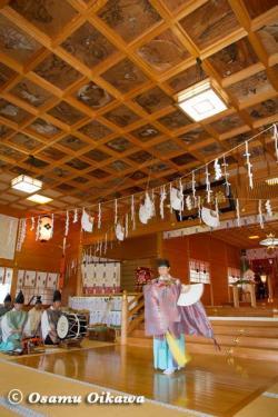 鹿部稲荷神社宵宮祭 2012 松前神楽 鈴上