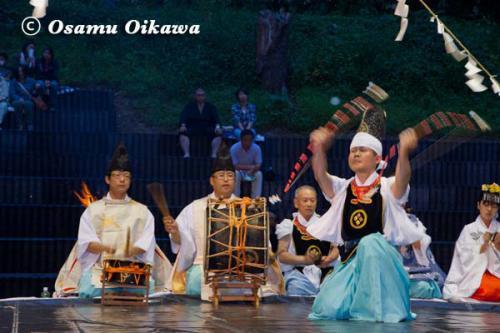 かがり火コンサート 2012 松前神楽 神遊舞