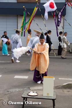 鹿部稲荷神社渡御祭 2012 幣