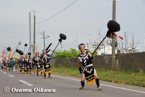 鹿部稲荷神社渡御祭 2012 大岩奴ッ子振り