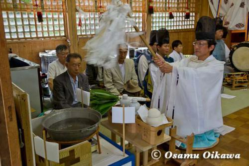 白符大神宮本祭 2012 松前神楽 鎮釜湯立式