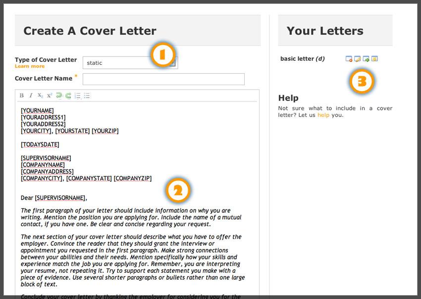 Online Resume Cover Letter